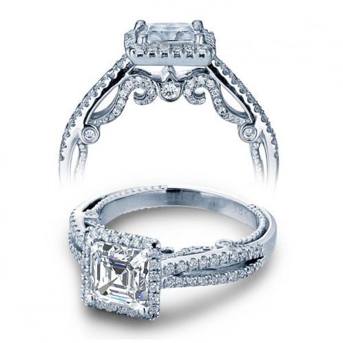 Verragio Halo Insignia Split Shank Designer Engagement Ring