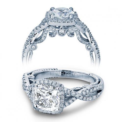 Verragio Insignia Halo Pave Infinity Designer Engagement Ring