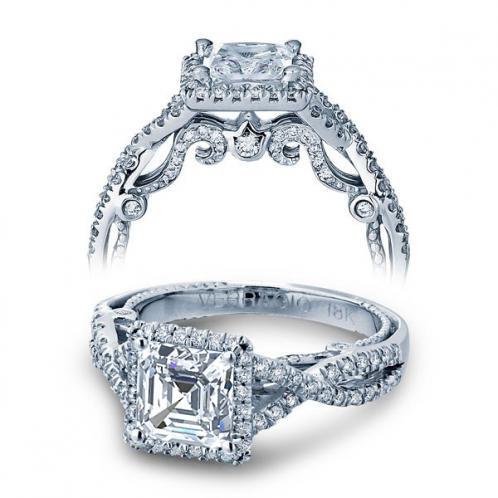 Verragio Insignia Pave Halo Infinity Designer Engagement Ring