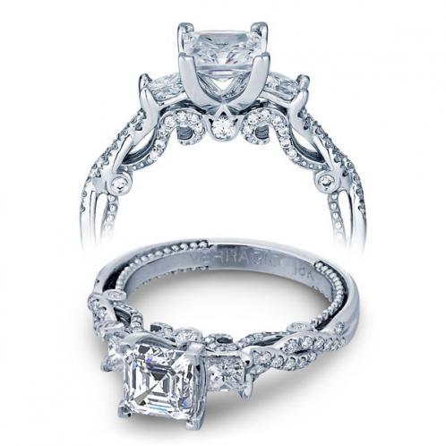 Verragio Insignia 3 Stone Infinity Designer Engagement Ring