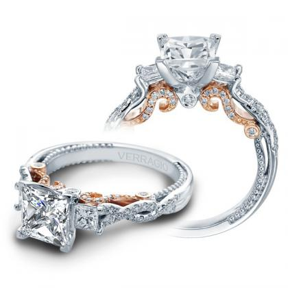 infinity princess cut engagement rings