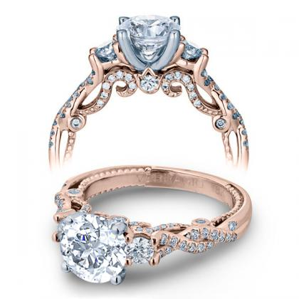 Infinity Rose Gold Engagement Rings