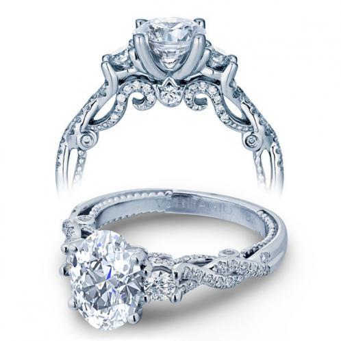 Verragio 3 Stone Insignia Infinity Pave Designer Engagement Ring