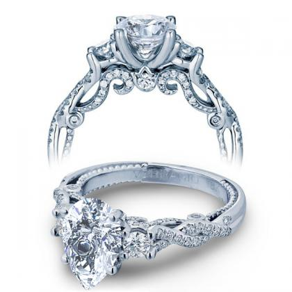 Pear cut Three Stone Engagement Rings
