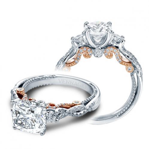 Verragio 3 Stone Infinity Insignia Designer Engagement Ring
