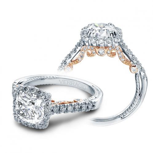 Verragio Halo Pave Insignia Designer Engagement Ring