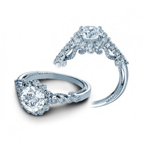Verragio Insignia Halo Pave Designer Engagement Ring