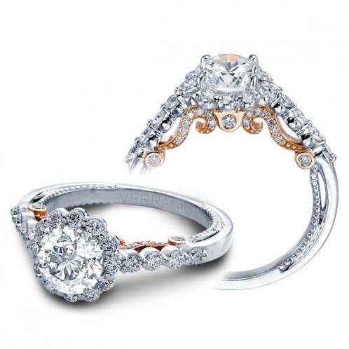 Verragio Insignia Halo Designer Pave Engagement Ring