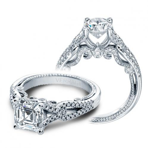 Verragio Insignia Pave Split Shank Designer Engagement Ring