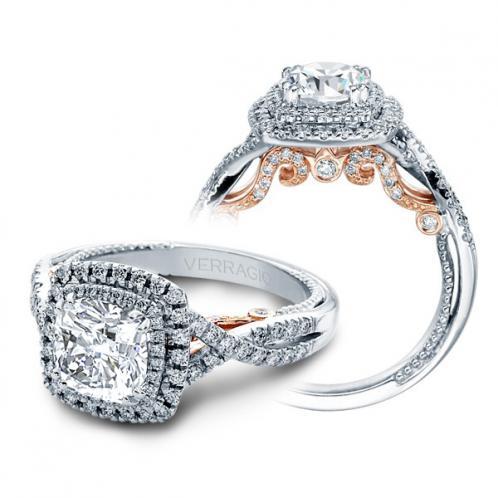 Verragio Insignia Double Halo Infinity Designer Engagement Ring