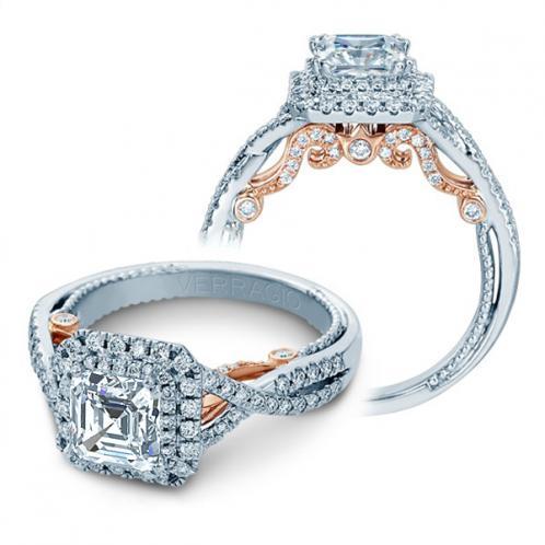 Verragio Double Halo Insignia Infinity Designer Engagement Ring