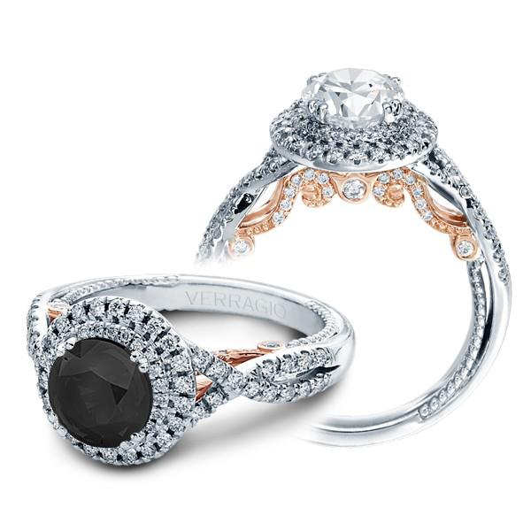 Verragio Double Halo Infinity Insignia Designer Engagement Ring