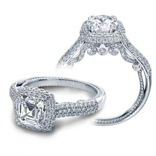 Verragio Insignia Halo Micro Pave Designer Engagement Ring