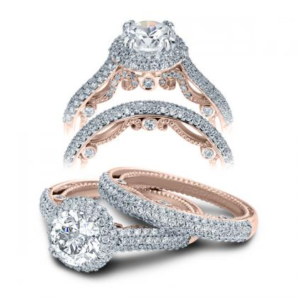 tri color gold engagement rings