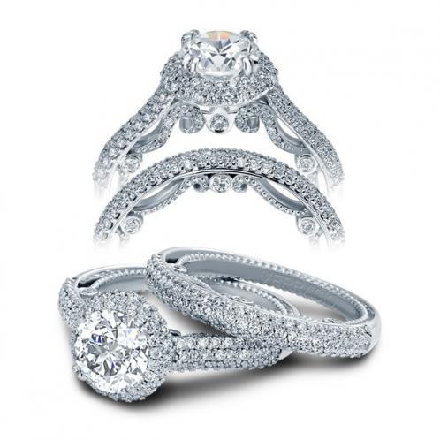 Verragio Halo Insignia Micro Pave Designer Engagement Ring