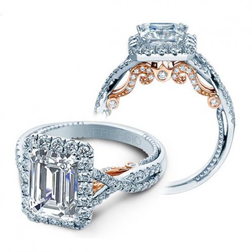 Verragio Infinity Insignia Halo Designer Engagement Ring