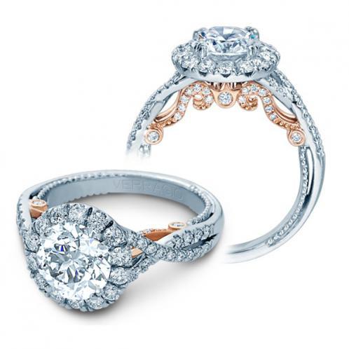 Verragio Halo Infinity Insignia Designer Engagement Ring