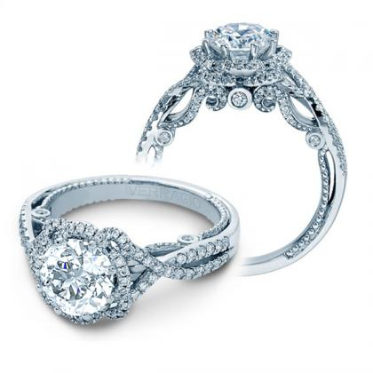 Art Deco Halo Engagement Rings