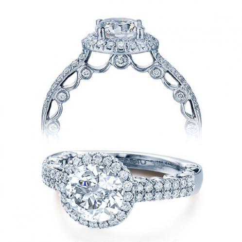 Verragio Halo Pave Paradiso Designer Engagement Ring