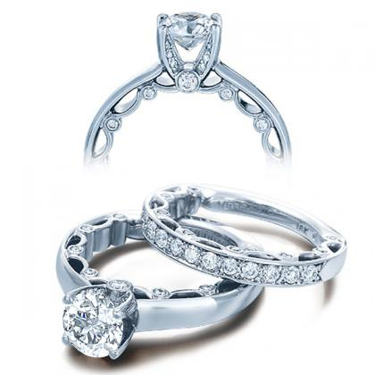 Micro Pave Solitaire Engagement Rings
