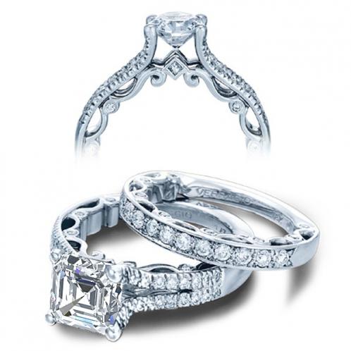 Verragio Paradiso Pave Split Shank Designer Engagement Ring