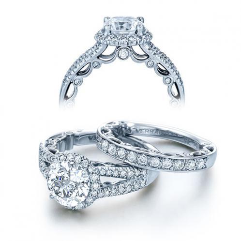 Verragio Halo Split Shank Paradiso Designer Engagement Ring
