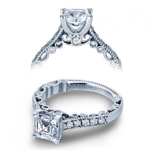 Verragio Paradiso Pave Milgrain Designer Engagement Ring