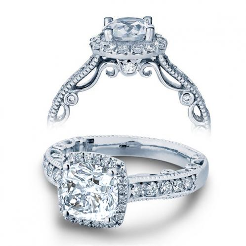 Verragio Paradiso Pave Halo Designer Engagement Ring