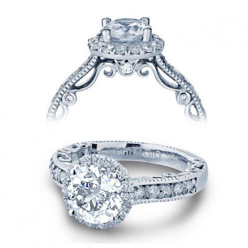 Verragio Paradiso Halo Pave Designer Engagement Ring