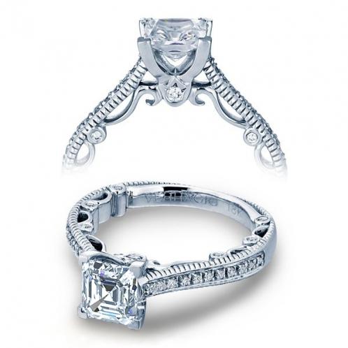 Verragio Paradiso Milgrain Pave Designer Engagement Ring