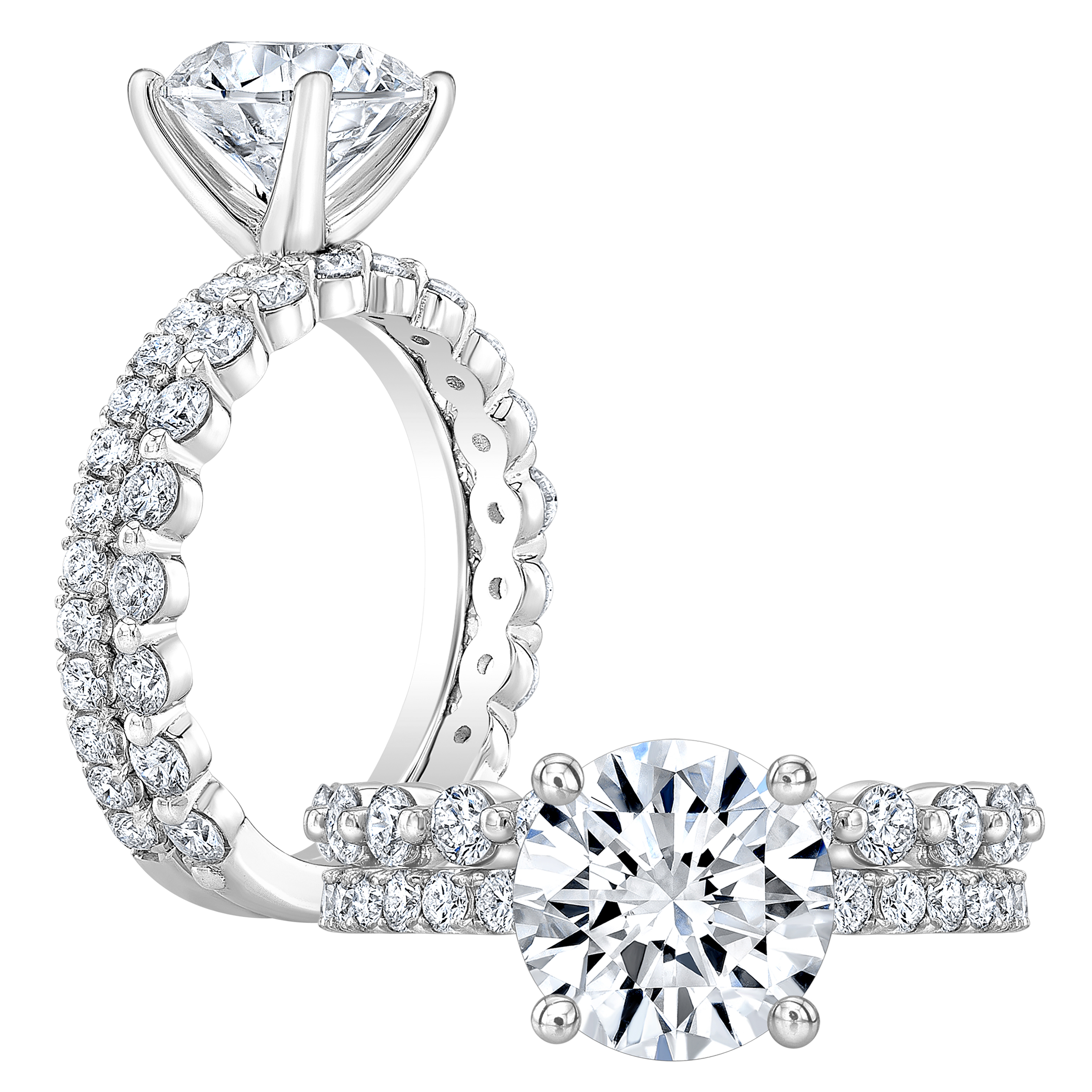 2 66 Ct Round Cut Natural Diamond Classic Engagement Ring Unique Single Prong Band Gia Certified