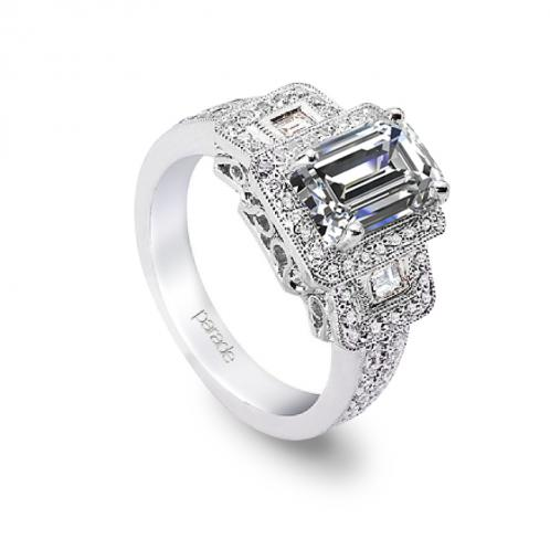Parade Design Hera Bridal 3-Stone Halo Diamond Engagement Ring