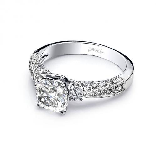 Parade Design Hera Bridal 3-Stone Pave Diamond Engagement Ring