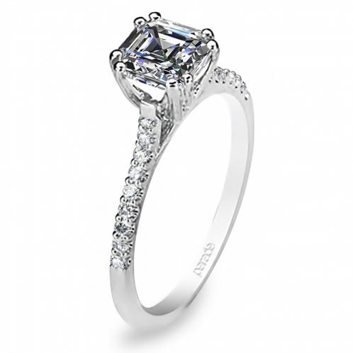Natural Pave Diamond Engagement Ring Hemera Bridal  R1626/R2