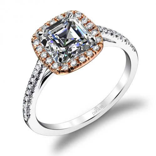 Halo Pave Diamond Engagement Ring Hemera Bridal  R1915/C1-WR