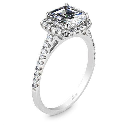 Halo Pave Diamond Engagement Ring Hemera Bridal  R1915/C1