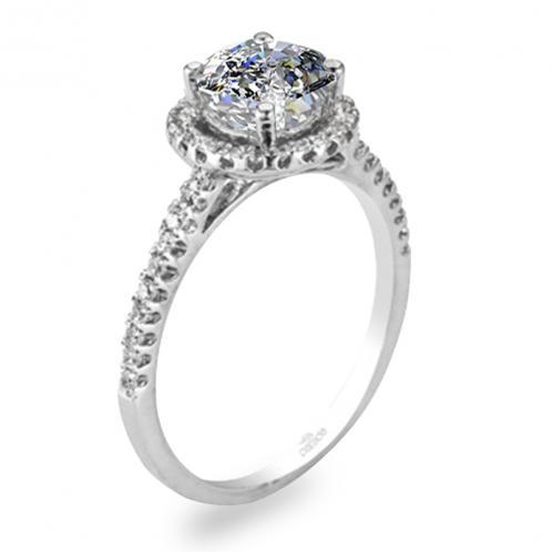 Parade Design Hemera Halo Pave Diamond Engagement Ring