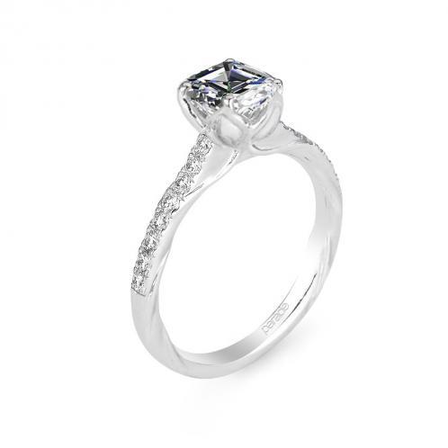 Parade Design Lyria Bridal Flower Bloom Design Pave Diamond Ring