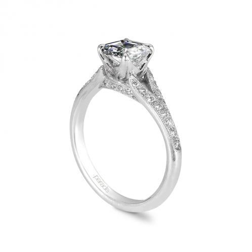 Parade Design Hera Bridal Split Shank Pave Milgrain Ring