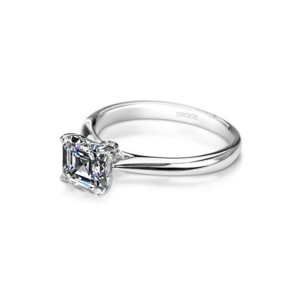 Designer  Asscher Cut Bezel Set Engagement Rings