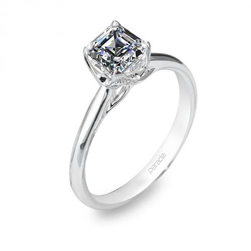 Parade Designs Hemera Bridal Solitaire Side Profile Accent Engagement Ring