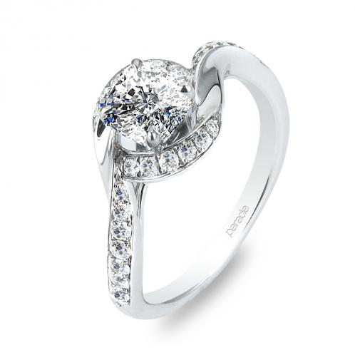 Twist Pave Diamond Hemera Bridal R2712/R1