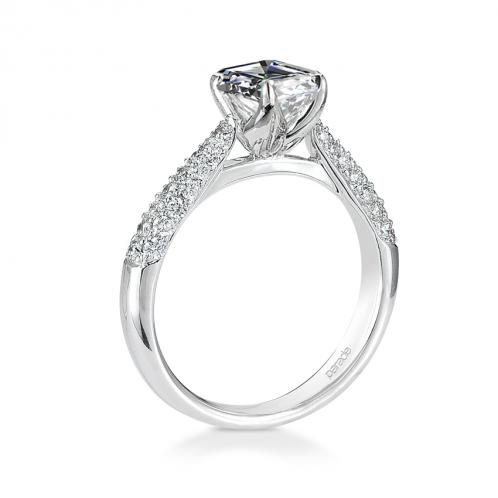 Parade Designs Hemera Micro Pave Diamond Engagement Ring