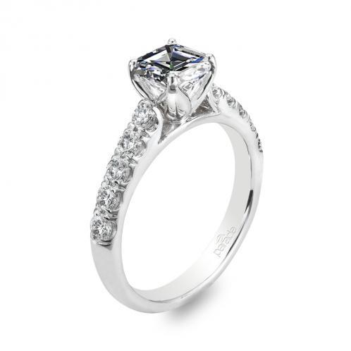 Parade Designs Hemera Bridal Pave Set Diamond Engagement Ring