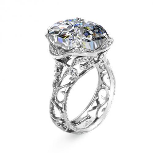 Parade Design Hera Bridal Milgrain Etched Curls Design Ring