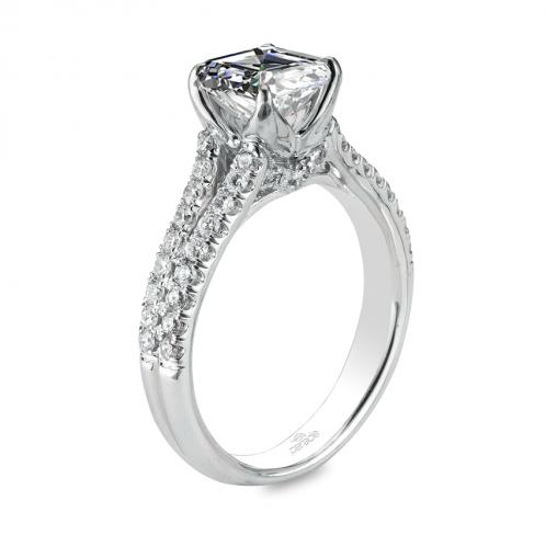 Parade Design Hemera Bridal Pave Split Shank Engagement Ring