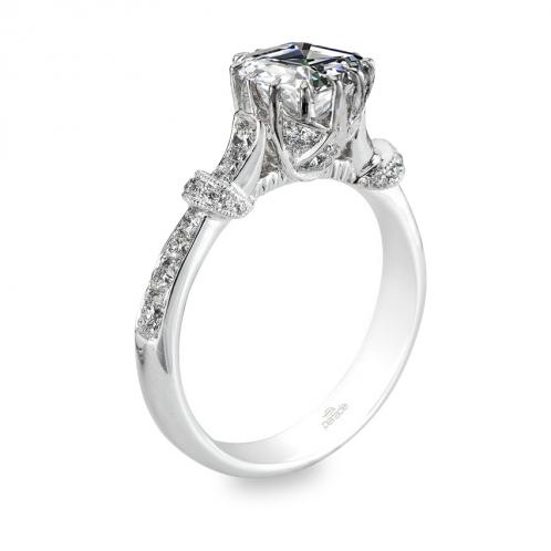 Parade Design Hera Bridal Crown Design Pave Diamond Ring