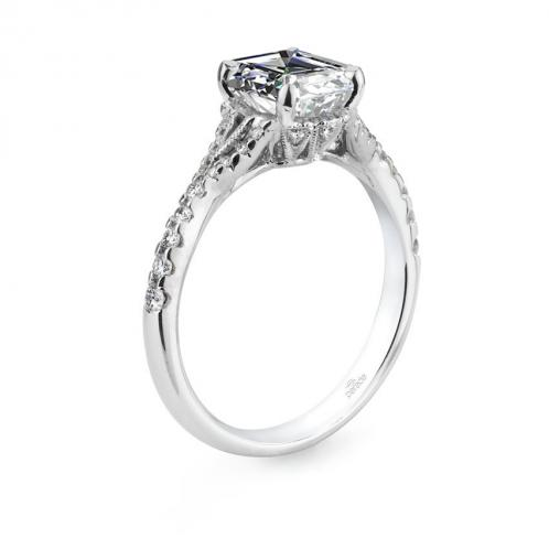 Parade Design Hera Bridal U-Prong Pave Split Shank Diamond Ring