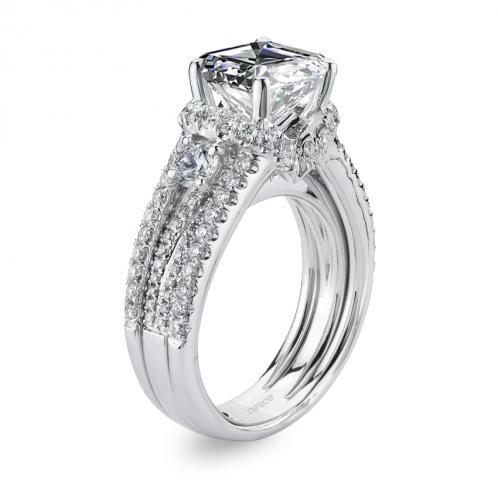 Parade Design Hemera Bridal 4-Row Split Shank Diamond Engagement Ring