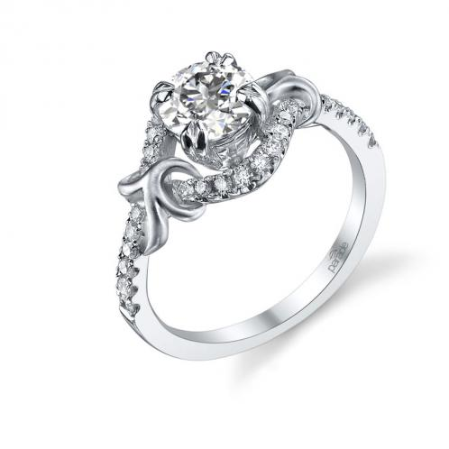 Parade Design Lyria Bridal Overlapping Pave Curls Design Ring